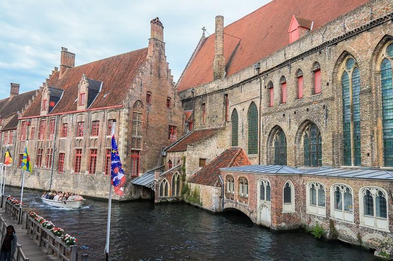 Navigation canal in Bruges, belgium