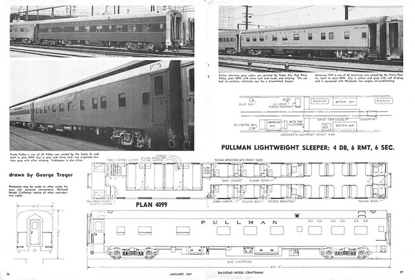 UP Passenger Car Plans