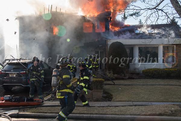Garden City Park 3rd Alarm House Fire 02/19/2019