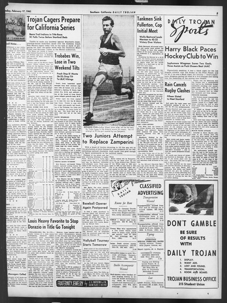 Daily Trojan, Vol. 32, No. 82, February 17, 1941