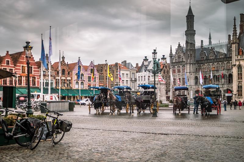 A beautiful city center in Brugge