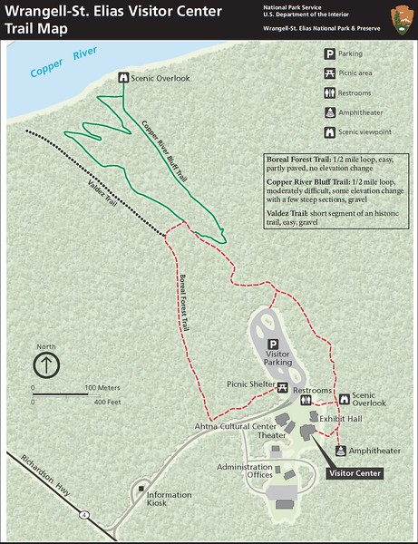 Wrangell-St. Elias National Park and Preserve (Visitor Center Area Trails)