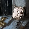 'Joys I Double, Sorrows I Divide' 18kt Rose Gold Cast Pendant, by Seal & Scribe 1