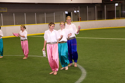 Folk-dance performances on Soccer field
