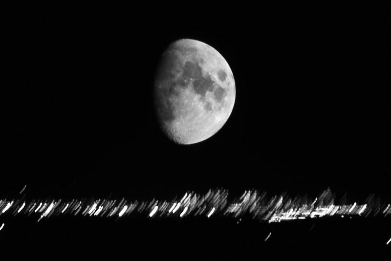 Moonrise over Toronto - Ontario, Canada - November 1986