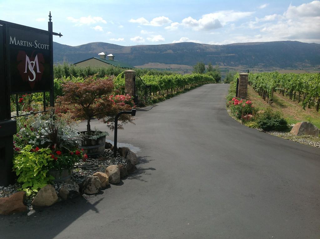 . The road to Martin Scott Winery in East Wenatchee, Washington. (Photo provided by Martin Scott Winery)