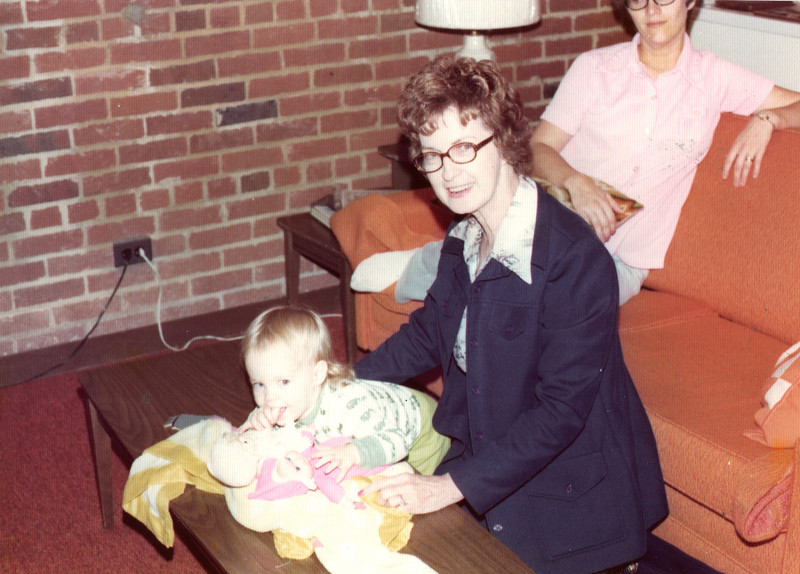 1976 Annie Kennedy with two year old Charlotte Geary.jpg