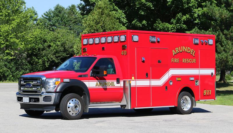 Ambulance 40.  2015 Ford F-450 / Demers