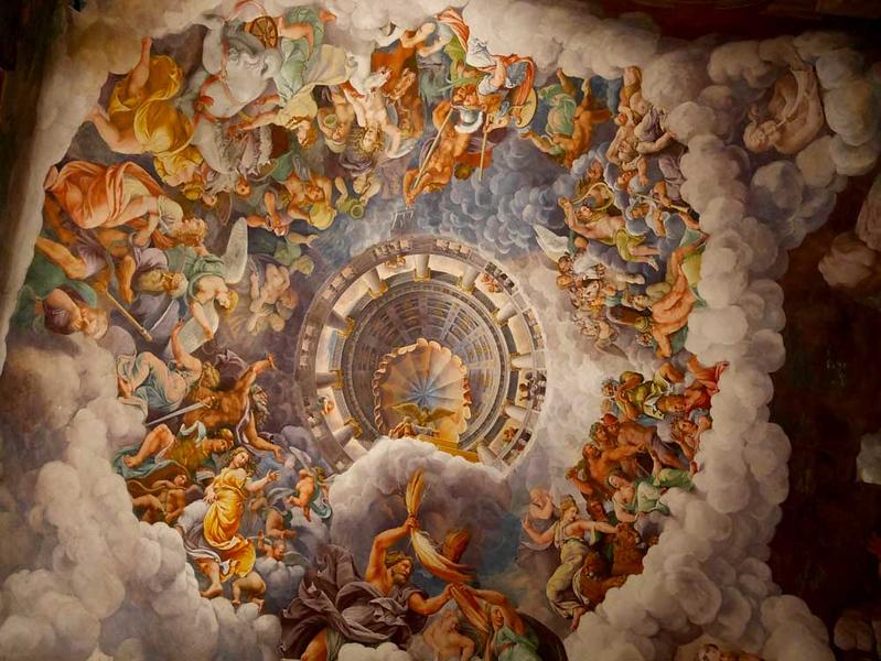 Room of Giants in Palazzo Te (Camera dei Giganti) - Mantua, Italy