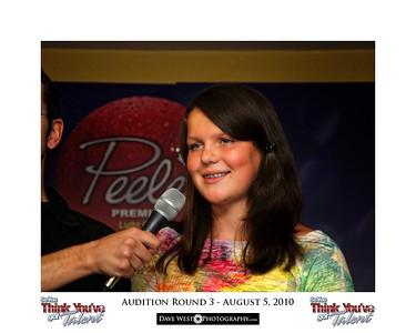 Audition Round 3 - August 5, 2010