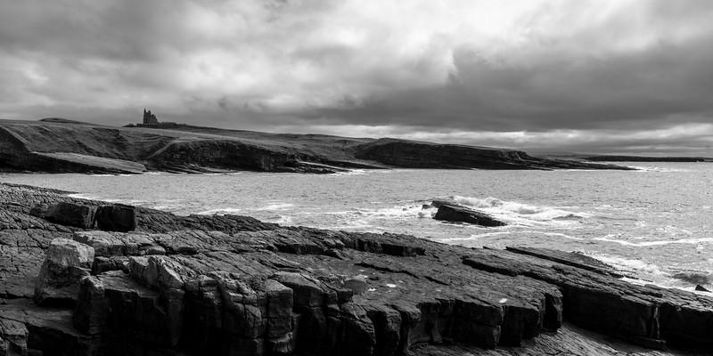 Castle on coast, Classiebawn Castle, Mullaghmore Peninsula, Grange, County Sligo, Ireland