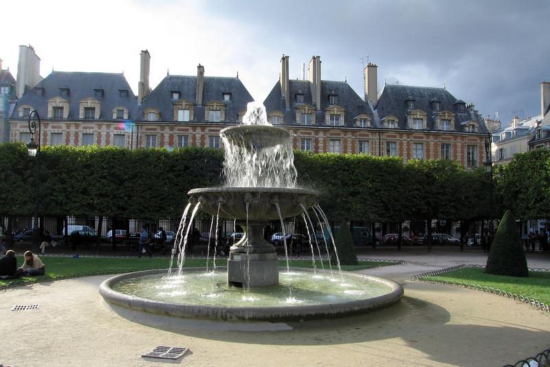 Public park in Paris: Place Vohages