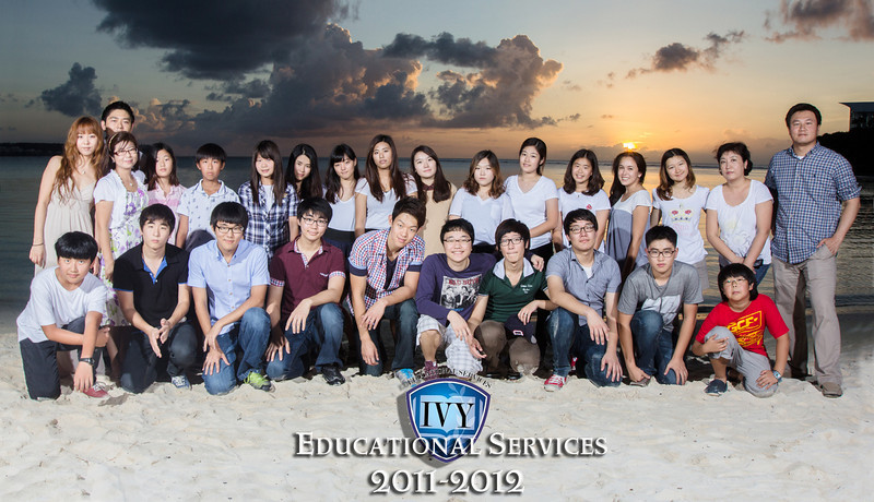 Ivy school group photo shoot on-location