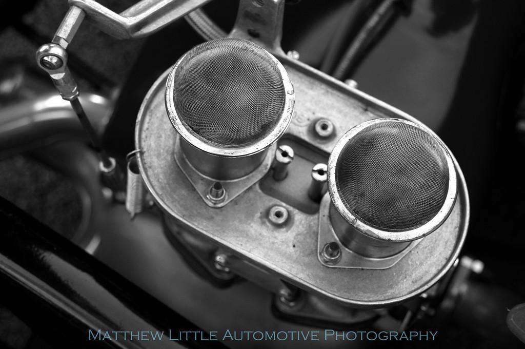 Engine detail shot of a superb Porsche 550 Spyder replica.