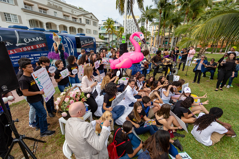 2018_11_03, Alberto Carvalho, Andy Cabrera, Beach, Beach Bed In, Bed In, Bed In on the Beach, Blac Rabbit, Bus, Come Together, Come Together Miami, Diana Rodriguez, Establishing, Exterior, FL, Florida, Jaime Walden, Lauryn Lima, Miami, Miami Beach, Names, The Betsy, The Betsy Hotel