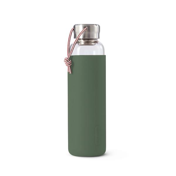 Glass Water Bottle olive Black Blum