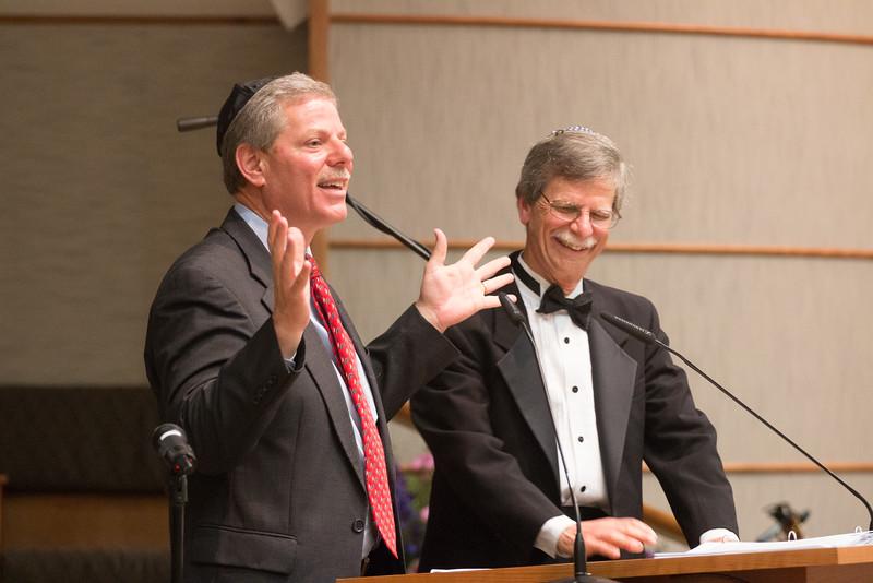 Steve Teitelbaum, MC, and Rabbi Rudolph -- Tour de Rudolph -- Retirement tribute for Rabbi Bill Rudolph, Congregation Beth El, Bethesda, MD, May 17, 2015