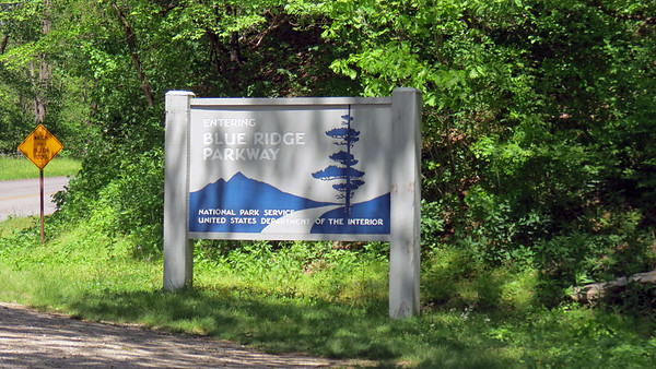 May 8:  The Blue Ridge Parkway .  .  .
