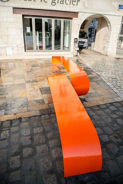 Artistic Bench in Old Town La Rochelle