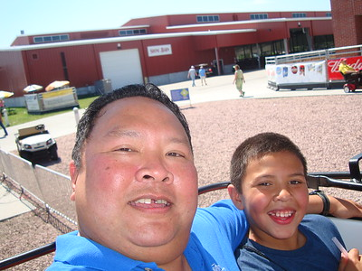 2013-08-26 AJ & Dad to the State Fair