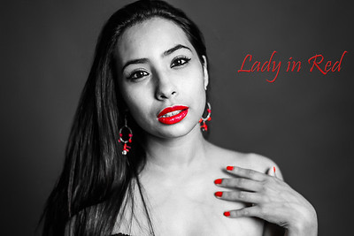 Lady in Red Photoshoot