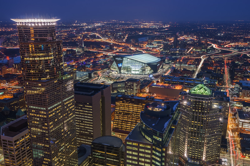 Minneapols - US Bank Stadium - Capella Tower - and Downtown EAST