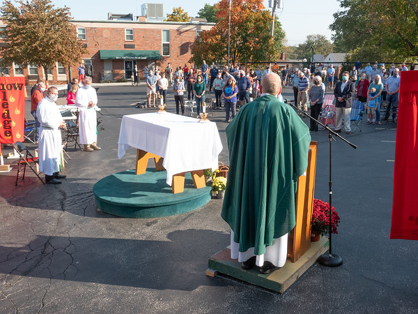 Outside Mass October 11, 2020