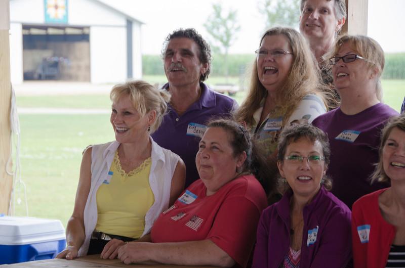 (Front) Kathy Pearce, Magie Matousek, Gail Bartz, Joanne Elbert; (Mid) Russell Ceschi, Eileen Mueller, Jeri Oleson; (Back) Tom Buchanan