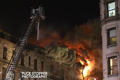 5 Alarm Building Fire - 565 W 144St, Manhattan, NY - 11/17/17