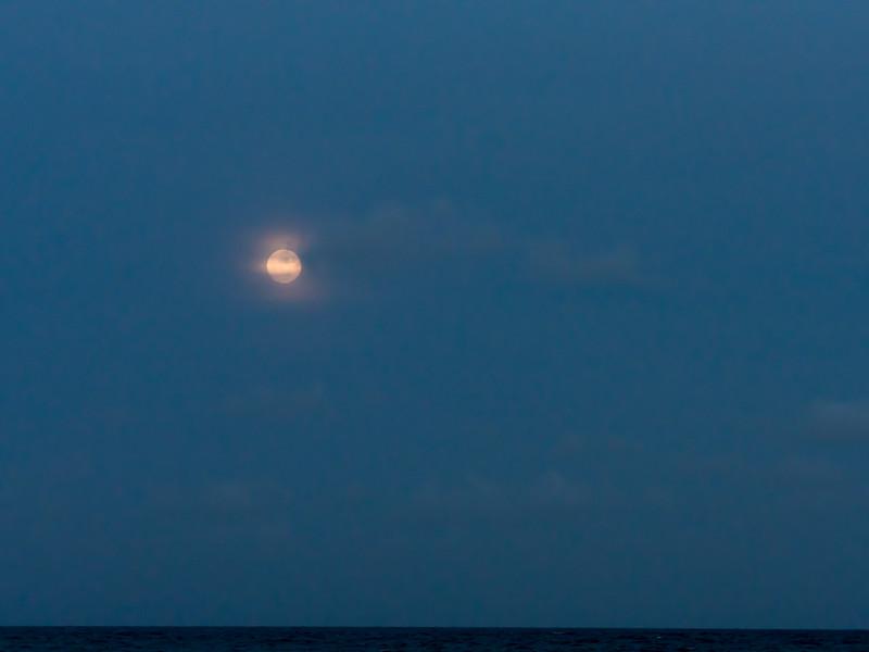 christmas beach moonrise