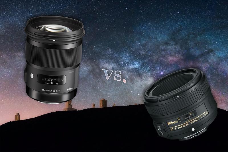 Astrofotografía a 50mm: Sigma vs. Nikon