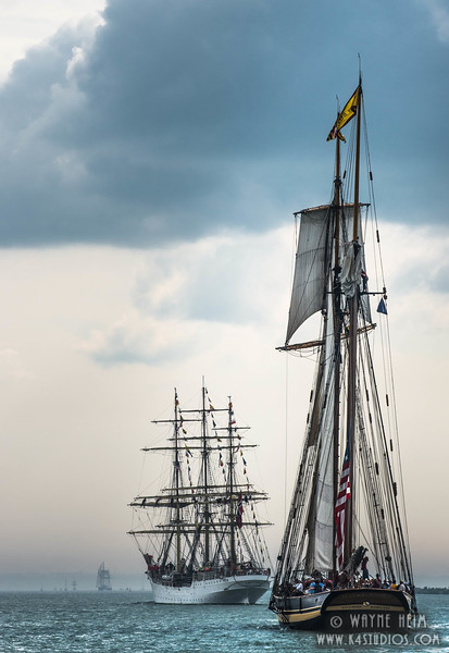 Parade of Tall Ships     photography by Wayne Heim