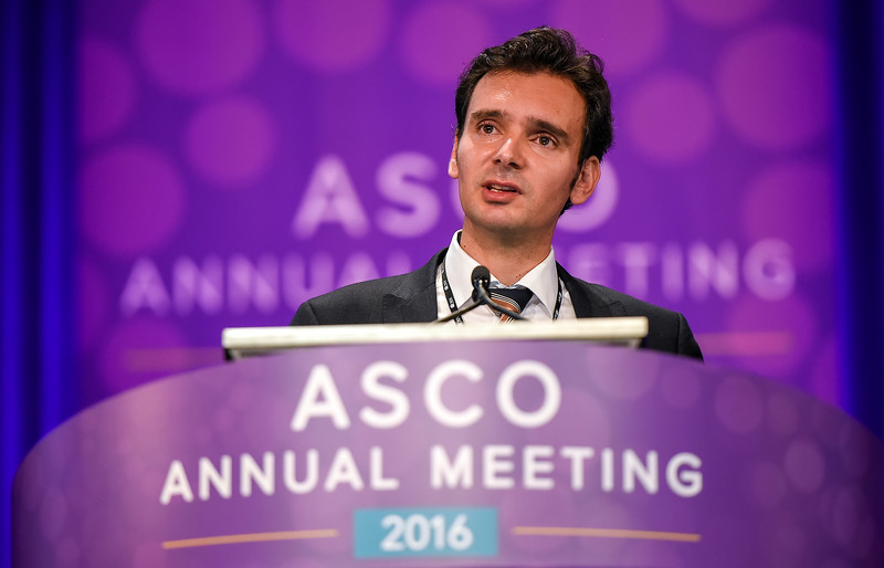 Gerhardt Attard, MD, PhD, speaks during Precision Medicine in Advanced Prostate Cancer: Understanding Genomics, Androgen Receptor Splice Variants, and Imaging Biomarkers