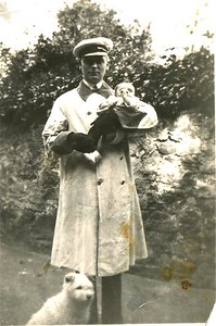 1936 - Dad with Baby Drew