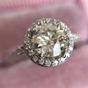 1.19ctw Old European Cut Diamond Halo Ring by A Jaffe 14