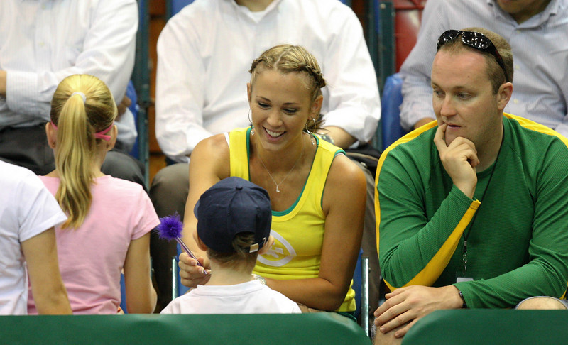11 April 2008 Townsville, Qld, Australia - Bec Hewitt poses for photographs and signs autographs at the Davis Cup tie between Thailand and Australia - Photo: Cameron Laird (Ph: 0418 238811)