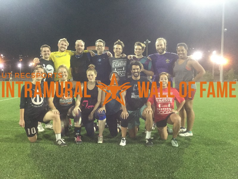 Spring 2017 Ultimate Frisbee Coed Champ_UT Staff