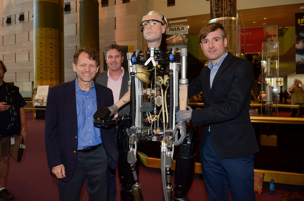. Berlolt Meyer poses for a photo during The Incredible Bionic Man arrival at the Smithsonian National Air and Space Museum where he will be on display through the fall, the subject of the new Smithsonian Channel special premiering Sunday, October 20 at 9pm  on October 17, 2013 in Washington, DC. (Photo by Kris Connor/Getty Images for Showtime)