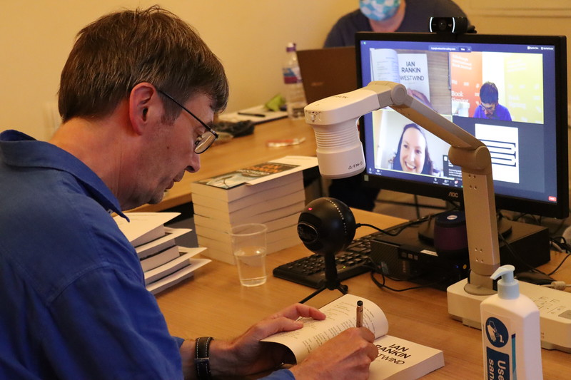 Ian Rankin signs copies of Westwind in a new online Booksigning at the Edinburgh International Book Festival Online