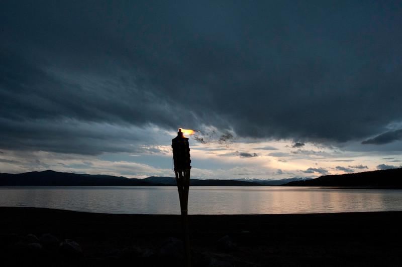Sunset Tiki at Lake Granby by Abbie Raible