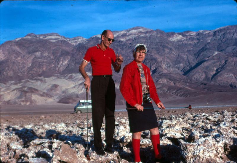 Bob and Alice Freeman at Death Valley 1968