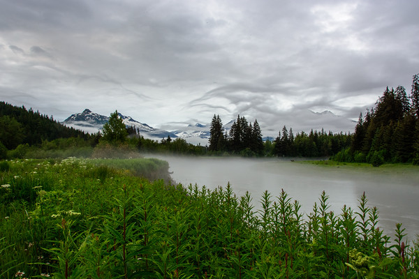 Fog on the Mendenhall River