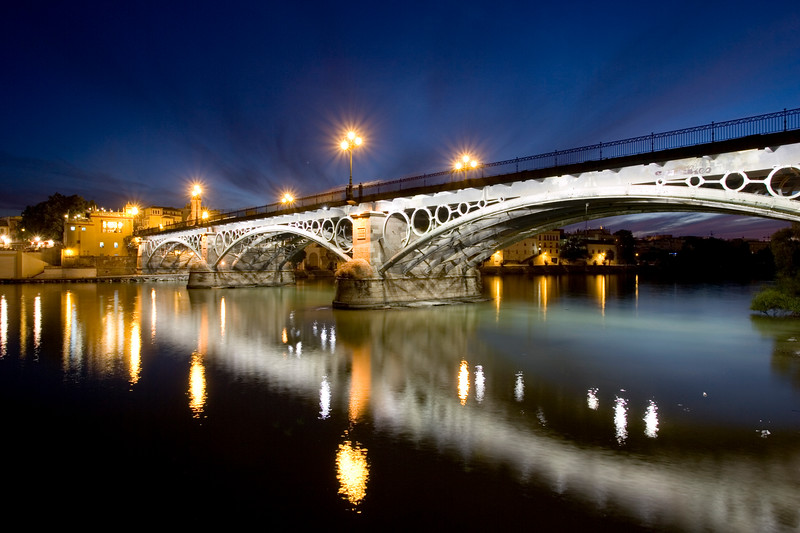 Triana bridge and Guadalquivir river