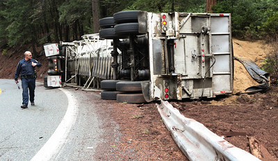 Overturned Semi on HWY 32