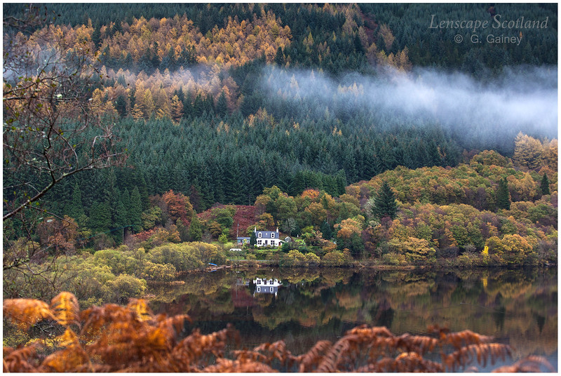 autumn comes to Loch Eck, in the Cowal peninsula
