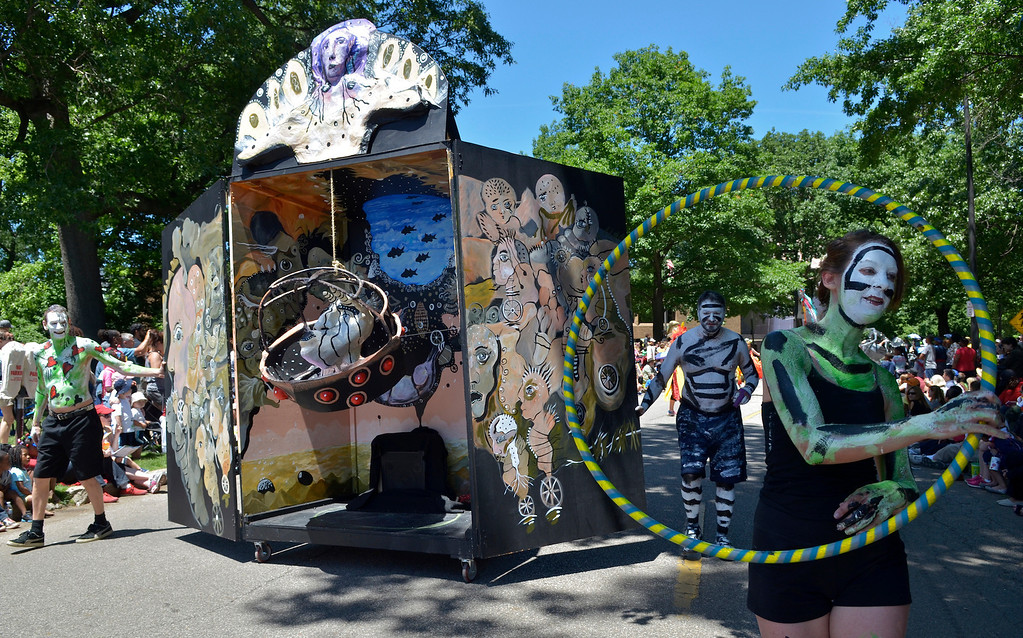 """. Jeff Forman/JForman@News-Herald.com The \""""Rapture\"""" piece at the Cleveland Museum of Art 25th annual Parade the Circle June 14 in University Circle."""