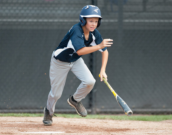 08/06/18 Wesley Bunnell | Staff Rhode Island defeated Vermont 10-0 in a 2018 East Regional Little League game in Bristol on Monday afternoon. Vermont's Bennett Campbell (6).