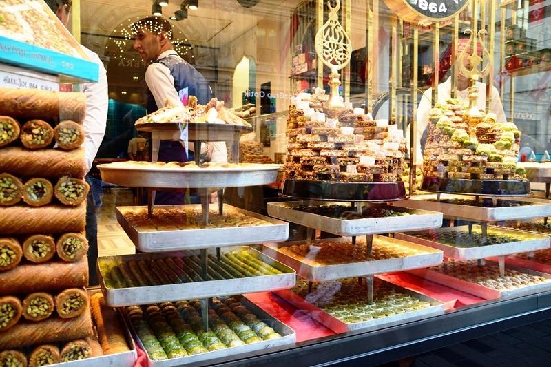 window display of turkish delights