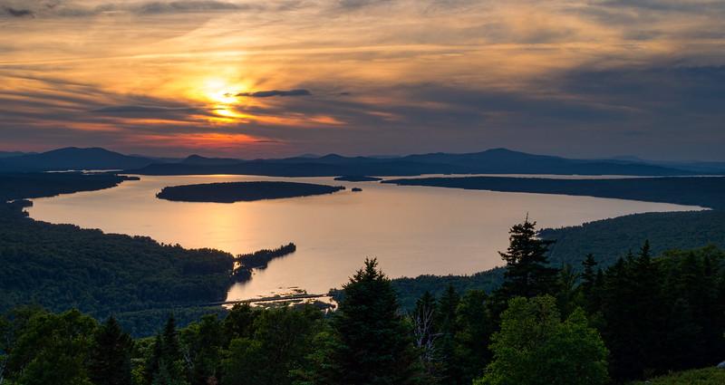 Dusk, Mooselookmeguntic Lake, Rangeley, Maine (63362-63364)