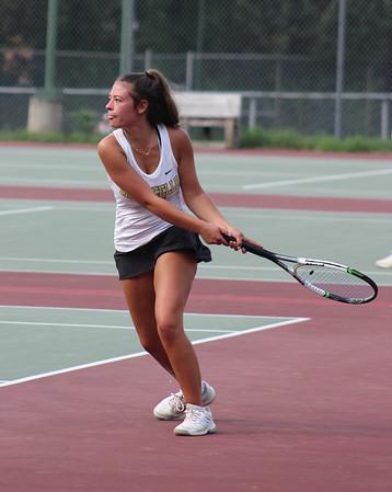 Monticello girls tennis versus Fort Defiance 2018